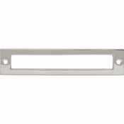 Top Knobs - Lynwood Collection - Hollin Backplate 5 1/16 Inch - Polished Nickel - TK925PN