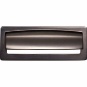 Top Knobs - Lynwood Collection - Hollin Cup Pull 3 3/4 Inch - Ash Gray - TK937AG