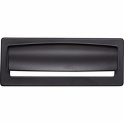 Top Knobs - Lynwood Collection - Hollin Cup Pull 3 3/4 Inch - Flat Black - TK937BLK