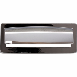 Top Knobs - Lynwood Collection - Hollin Cup Pull 3 3/4 Inch - Polished Chrome - TK937PC