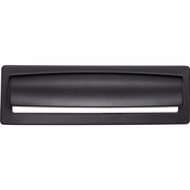 Top Knobs - Lynwood Collection - Hollin Cup Pull 5 1/16 Inch - Flat Black - TK938BLK