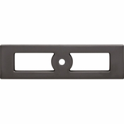 Top Knobs - Lynwood Collection - Hollin Knob Backplate 3 3/4 Inch - Ash Gray - TK922AG