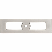 Top Knobs - Lynwood Collection - Hollin Knob Backplate 3 3/4 Inch - Brushed Satin Nickel - TK922BSN