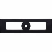 Top Knobs - Lynwood Collection - Hollin Knob Backplate 3 3/4 Inch - Flat Black - TK922BLK