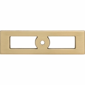 Top Knobs - Lynwood Collection - Hollin Knob Backplate 3 3/4 Inch - Honey Bronze - TK922HB