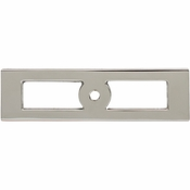 Top Knobs - Lynwood Collection - Hollin Knob Backplate 3 3/4 Inch - Polished Nickel - TK922PN
