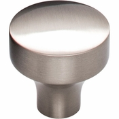 Top Knobs - Lynwood Collection - Kinney Knob 1 1/8 Inch - Brushed Satin Nickel - TK900BSN