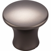 Top Knobs - Mercer Collection - Oculus Medium Round Knob 1 1/8 Inch - Ash Gray - TK591AG