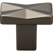 Top Knobs - Mercer Collection - Quilted Knob 1 1/4 Inch - Ash Gray - TK560AG