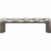 Top Knobs - Mercer Collection - Quilted Pull 3 3/4 Inch (c-c) - Ash Gray - TK561AG