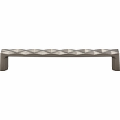 Top Knobs - Mercer Collection - Quilted Pull 6 5/16 Inch (c-c) - Ash Gray - TK563AG