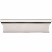 "Top Knobs - Mercer Collection - Glacier Pull 3"" (c-c) - Polished Nickel - TK553PN"