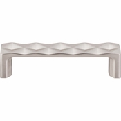 "Top Knobs - Mercer Collection - Quilted Pull 3 3/4"" (c-c) - Brushed Satin Nickel - TK561BSN"