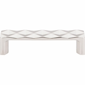 "Top Knobs - Mercer Collection - Quilted Pull 3 3/4"" (c-c) - Polished Nickel - TK561PN"