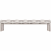 "Top Knobs - Mercer Collection - Quilted Pull 5 1/16"" (c-c) - Brushed Satin Nickel - TK562BSN"