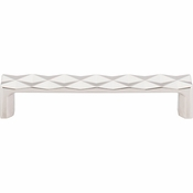 "Top Knobs - Mercer Collection - Quilted Pull 5 1/16"" (c-c) - Polished Nickel - TK562PN"