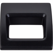 "Top Knobs - Mercer Collection - Tango Finger Pull Small 1 1/8"" - Flat Black - TK615BLK"