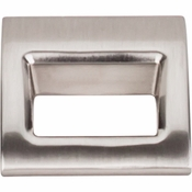 "Top Knobs - Mercer Collection - Tango Finger Pull Small 1 1/8"" - Brushed Satin Nickel - TK615BSN"