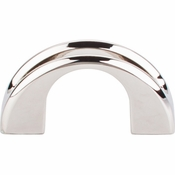 "Top Knobs - Mercer Collection - Tango U Finger Pull 2"" - Polished Nickel - TK617PN"