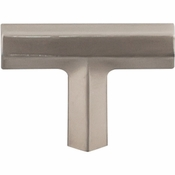"Top Knobs - Serene Collection - Lydia T Shape Knob 1 3/4"" - Brushed Satin Nickel - TK790BSN"