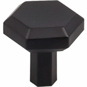 "Top Knobs - Serene Collection - Lydia Knob 1 1/8"" - Flat Black - TK791BLK"