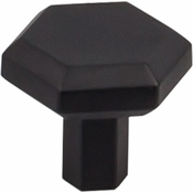 "Top Knobs - Serene Collection - Lydia Knob 1 1/4"" - Flat Black - TK792BLK"