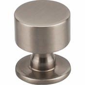 "Top Knobs - Serene Collection - Lily Knob 1 1/8"" - Brushed Satin Nickel - TK821BSN"