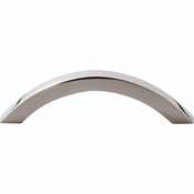 """Top Knobs - Stainless II Collection - Pull 3 3/4"""" (c-c) - Polished Stainless Steel - SS77"""