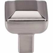 "Top Knobs - Transcend Collection - Podium Knob 1"" - Brushed Satin Nickel - TK670BSN"