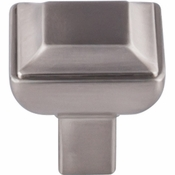 "Top Knobs - Transcend Collection - Podium Knob 1 1/8"" - Brushed Satin Nickel - TK671BSN"