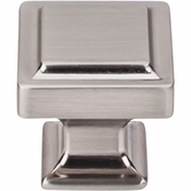 "Top Knobs - Transcend Collection - Ascendra Knob 1 1/4"" - Brushed Satin Nickel - TK702BSN"