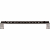 "Top Knobs - Tower Bridge Collection - Tower Bridge Appliance Pull 12"" (c-c) - Brushed Satin Nickel - TK208BSN"