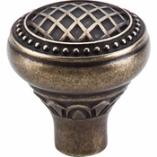 "Top Knobs - Trevi Collection - Trevi Round Knob 1 5/16"" - German Bronze - TK173GBZ"