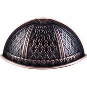 """Top Knobs - Trevi Collection - Trevi Cup Pull 1 1/2"""" (c-c) - Tuscan Bronze - TK171TB"""