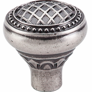 "Top Knobs - Trevi Collection - Trevi Round Knob 1 5/16"" - Pewter Antique - TK173PTA"