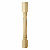 01160210PT1 Traditional Double Square Island Column Paint Grade