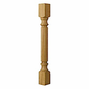 01150220PT1 Traditional Reeded Island Column Paint Grade