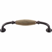 "Top Knobs - Tuscany Collection - Tuscany D-Pull Small 5 1/16"" (c-c) - Dark Antique Brass - M146"