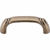 "Top Knobs - Tuscany Collection - Dover D-Pull 2 1/2"" (c-c) - German Bronze - M190"