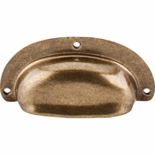 "Top Knobs - Tuscany Collection - Mayfair Cup Pull 3 3/4"" - German Bronze - M212"