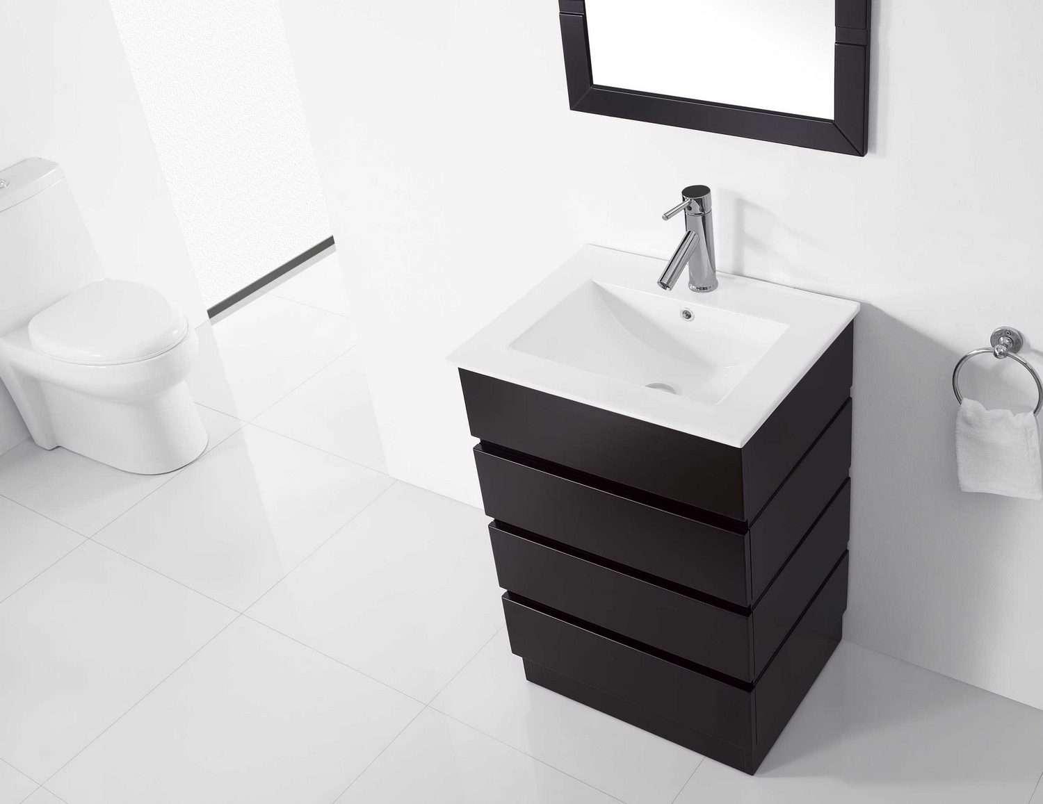 Virtu Usa Bruno 24 Single Bathroom Vanity Cabinet Set In