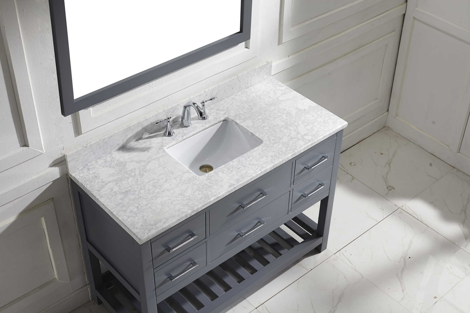 "Single Bathroom Vanity Cabinets virtu usa caroline estate 48"" single bathroom vanity cabinet set"
