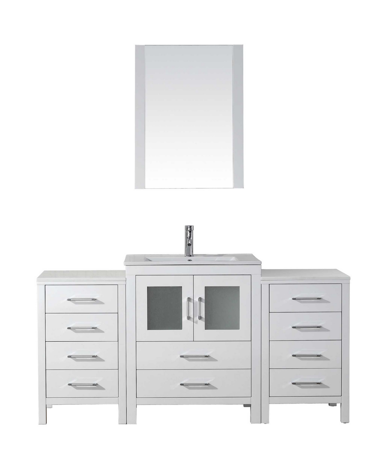 Virtu Usa Dior 64 Single Bathroom Vanity Cabinet Set In
