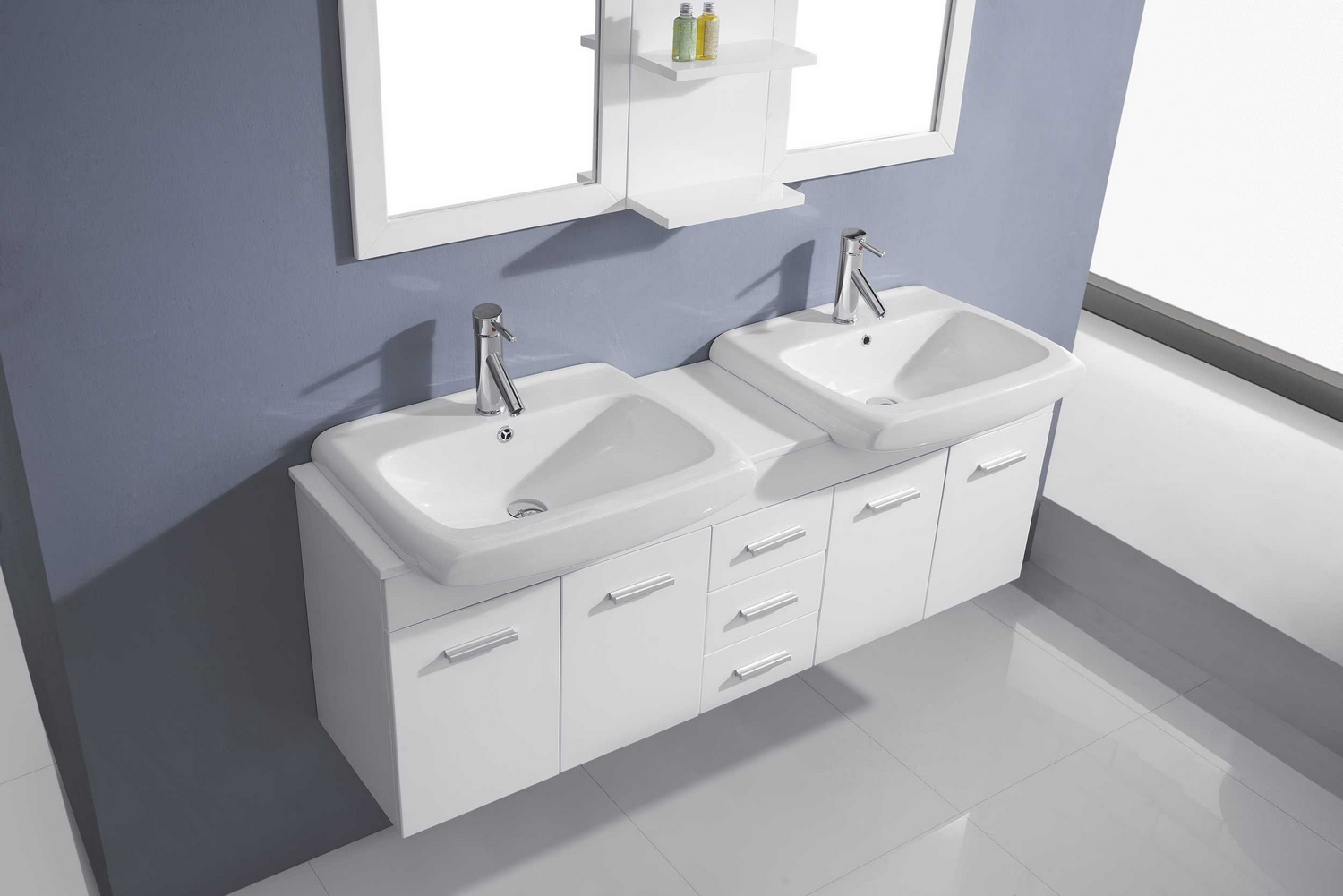 Virtu Usa Ophelia 59 Double Bathroom Vanity Cabinet Set
