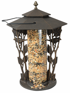 "Whitehall Products - 12"" Chickadee Silhouette Feeder - Oil Rub Bronze"