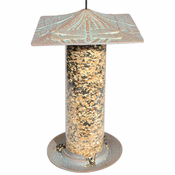 "Whitehall Products - 12"" Dragonfly Tube Feeder - Copper Verdi"