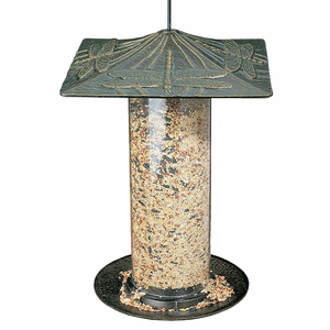 "Whitehall Products - 12"" Dragonfly Tube Feeder - French Bronze"