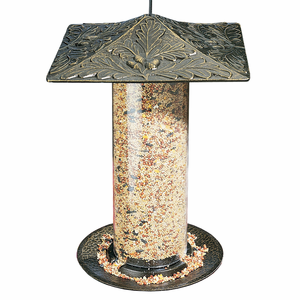 "Whitehall Products - 12"" Oakleaf Tube Feeder - French Bronze"