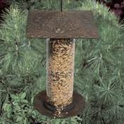 "Whitehall Products - 12"" Oakleaf Tube Feeder - Oil Rub Bronze"