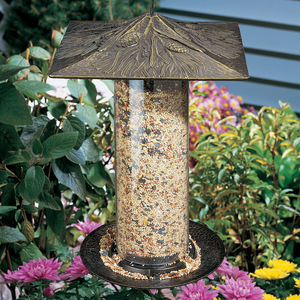 "Whitehall Products - 12"" Pinecone Tube Feeder - French Bronze"